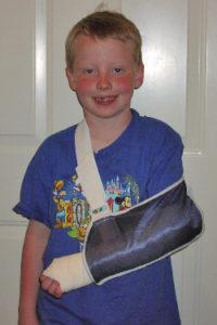 boy broken arm
